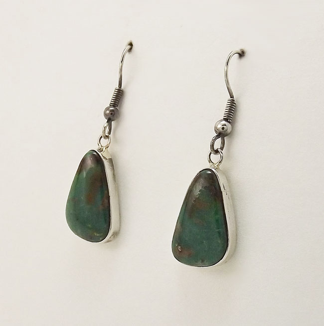 Earrings Turquoise And Sterling Silver Dangles By Jimmy